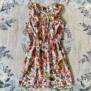 S floral print pattern colorful rainbow cute dress